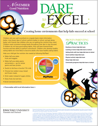 Dare to Excel newsletter - November